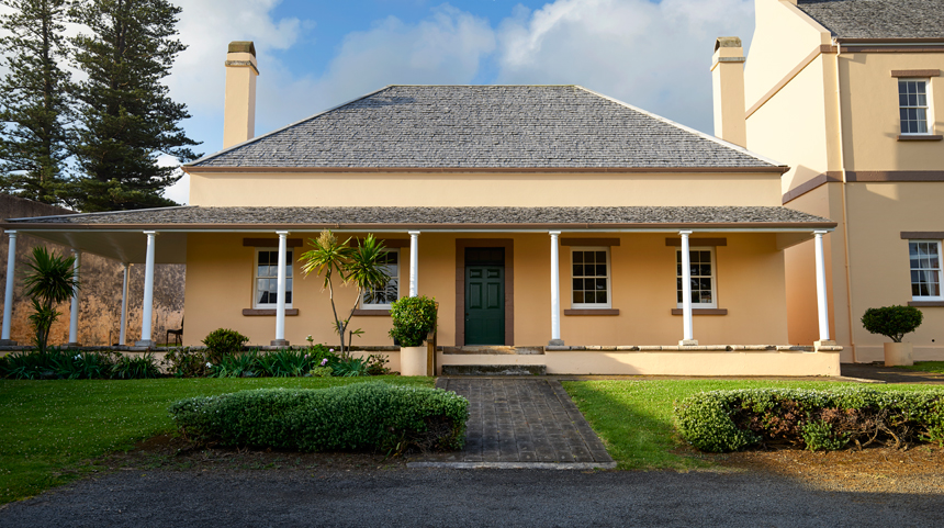 Officers quarters at Old Military Barracks. Photograph: Rob Nisbet